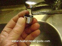 Clogged Aerator on kitchen sink faucet