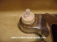 Faucet stem clogged, remove handle