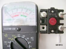 test water heater limit with a multimeter