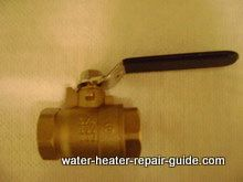ball valve used to flush water heater