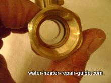 3/4 inch ball valve to drain and flush water heater