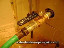 attach garden hose to ball valve