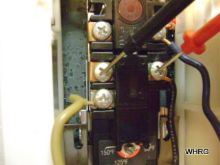 Upper thermostat sending power to lower thermostat