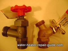 Plastic and brass drain valves