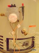 water heater gas valve with roll-out switch