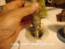 Lift tpr valve from water heater