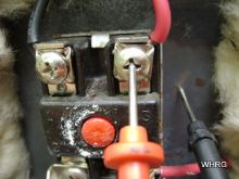 checking water heater power with a multimeter