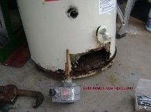Gas water heater Leaking