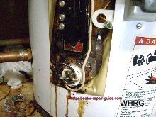 electric hot water heater leak