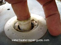 Removing water heater fill tube