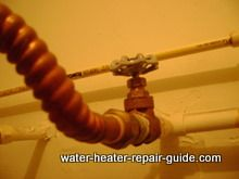water heater shut off valve