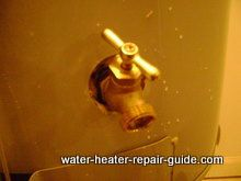 New water heater drain valve in place